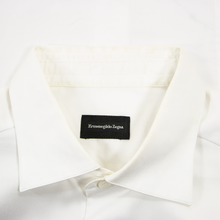 CURRENT Zegna White Cotton MOP Spread Collar Dress Shirt 39EU/15.5US