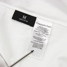 CURRENT Zegna White MOP Btns Spread Collar Dress Shirt 39EU/15.5US