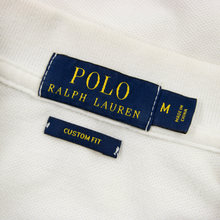 Polo Ralph Lauren Ivory White Cotton Pique Short Sleeve Custom Fit Polo Shirt M