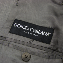 Dolce & Gabbana Italy Coin Grey Wool Woven Lined Vented 2Btn Jacket 40R