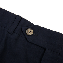 Paul Stuart Navy Blue Wool Woven Unlined Flat Front Zip Up Trouser Pants 36W
