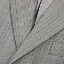Mabro Grey Brown Loro Piana S130s Wool Multi-Striped Vented 3Btn Jacket 40R