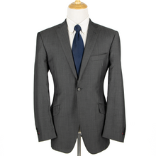 Mark Marengo Savile Row Slate Grey Wool Mohair Twill Handmade Glossy Jacket 44R
