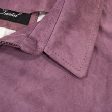 NWD Schiatti Purple Suede Leather Unstructured Top Stitch Blouson Jacket 40US