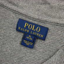 Polo Ralph Lauren Fossil Grey Cotton Textured Half Zip Mock Neck Sweater XL