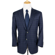 CURRENT Isaia Blue Green S140's Wool Plaid Woven Dual Vents 2Btn Jacket 46S
