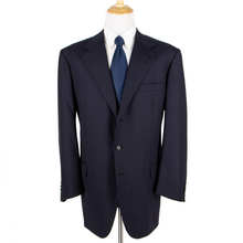 CURRENT Brioni Palatino Blue Wool Pinstriped Twill Dual Vents 3Btn Suit 52L