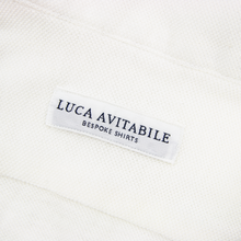Luca Avitable Pearl White Cotton Pique MOP Half Button Long Sleeve Polo Shirt XL