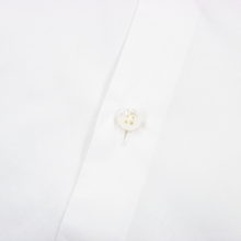 Zegna Couture White Cotton MOP Pique Spread Collar Dress Shirt 39EU/15.5US