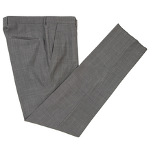 NWOT Z Zegna Slate Grey Wool Pin Check Slim Fit Flat Front Dress Pants 50EU/34W