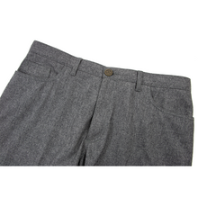 Brioni Pewter Grey Wool Flannel Jean Cut 5-Pocket Flat Front Pants 36W