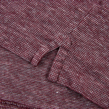 Zegna Magenta Melange Linen Cotton Half Button Short Sleeve Polo Shirt 2XL