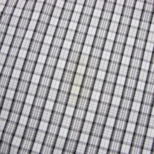 Eskandar Grey Black Brown Cotton Plaid MOP 3/4 Sleeve Spread Dress Shirt 17US