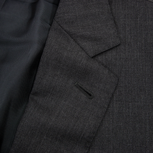 Ermenegildo Zegna Mila Multiseason Anchor Grey Wool Pleated Front 2Btn Suit 44L
