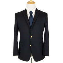 Brooks Brothers Regent Navy Blue VBC Wool Lined Vented Gold Button Jacket 38S
