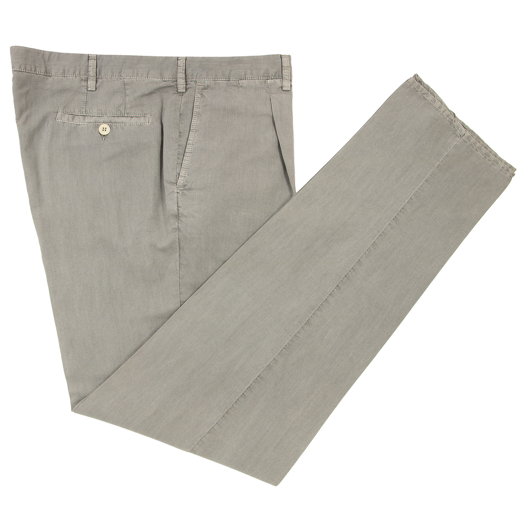 NWT Rota Rotasport Grey Cotton Silk Unlined Ticket Pocket Pleated Pants 40W