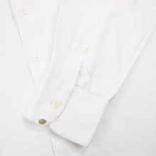 Hamilton Pearl White Cotton MOP Buttons Semi-Spread Custom Dress Shirt 17US