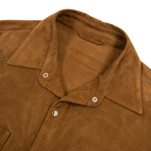 NWT Schiatti Cider Brown Suede Leather Unstructured Shacket Shirt Jacket