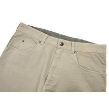 Zegna Sport Taupe Cotton Twill 5-Pocket Unlined Jean Cut Flat Front Pants 36W