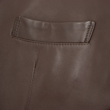 NWT Schiatti & Co. Felino Pecan Brown Nappa Leather Jacket