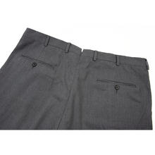 Hickey Freeman Pewter Grey Wool Twill Half Lined Pleated Dress Pants 38W