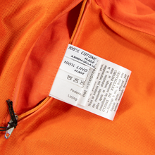 NWT Schiatti & Co. Fire Orange Linen Leather Trim Unstructured Blouson Jacket