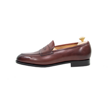 NIB $1390 Edward Green Piccadilly E184 Burgundy Antique Loafers + Trees
