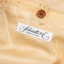NWT Schiatti & Co. Peach Silk Linen Shantung Leather Trim Blouson Jacket
