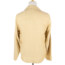 NWT Schiatti & Co. Tan Silk Linen Hopsack Unstructured Car Jacket