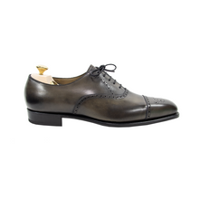 NIB $1390 Edward Green Asquith E888 Cloud Grey Brogue Medallion Shoes + Trees