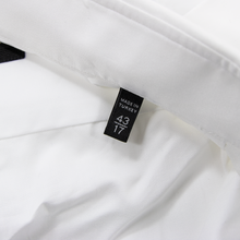 NWT Zegna Chiffon White Cotton Twill MOP Semi-Spread Dress Shirt 43EU/17US