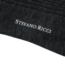 NWT Stefano Ricci Anchor Grey 70% Cashmere Hand Linked Ribbed Socks 11US