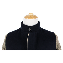 Stephan Schneider Navy Brown Cashmere Wool Knit Sleeves Bomber Jacket 5/M