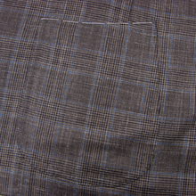 NWOT Sartoria Solito Brown Wool Silk Linen Glen Plaid Vented 3/2 Roll Jacket 42R