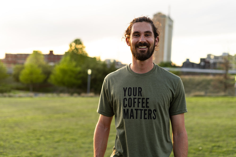 Your Coffee Matters T-Shirt Military Green
