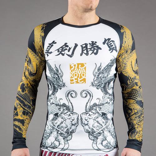 "Gawakoto x Scramble ""Shinkenshoubu"" Rash Guard"