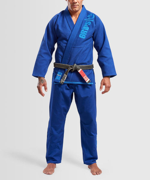 "Grips ""The Italian"" BJJ Gi - Blue"