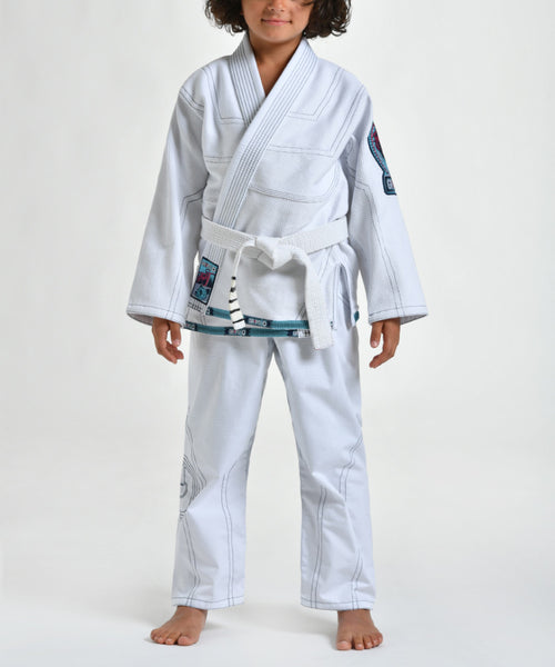 "Grips ""Triple J"" Children's BJJ Gi - White"