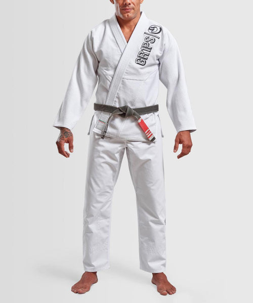 "Grips ""The Italian"" BJJ Gi - White"
