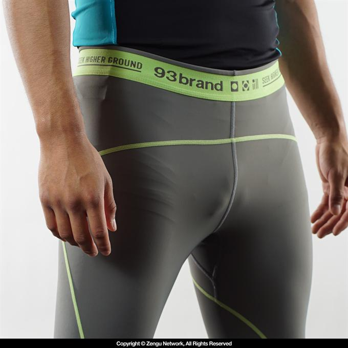 "93brand ""Standard Issue"" Spats - Grey/Volt Green"