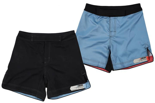 93brand Standard Issue Shorts 2-PACK (Short Length) Black & Pale Blue