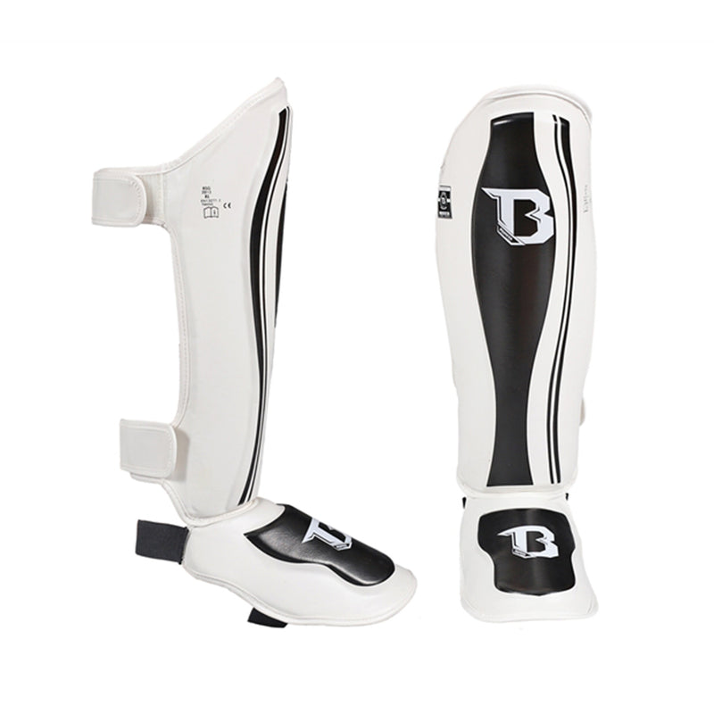 Booster Muay Thai Shin Guards - White/Black