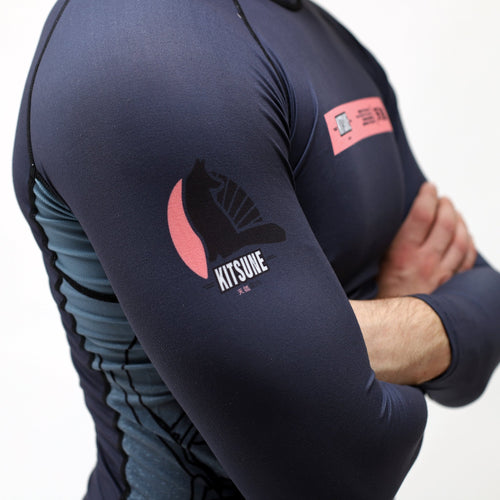 "Kitsune ""MK1"" Long-Sleeve Men's Rashguard"
