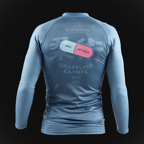 "93brand ""Grappling Clinic"" Rash Guard"
