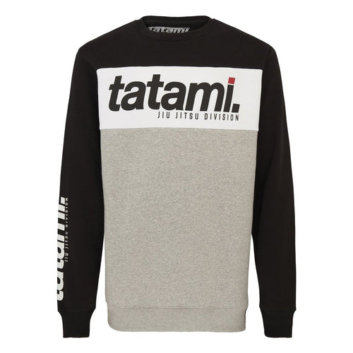 Tatami Base Collection - Black Tri-Panel Sweatshirt