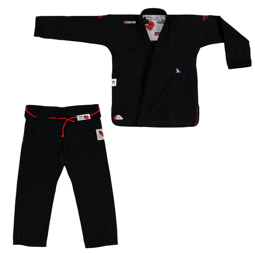 "93brand ""Goose Feather"" Lightweight Women's Black Jiu Jitsu Gi"