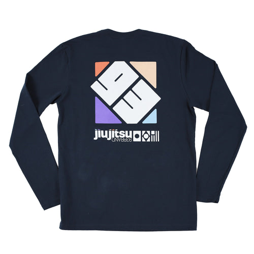 "93brand ""Spectrum"" Long-Sleeve Shirt (Navy)"