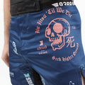"93brand ""Splatter V2"" Navy Blue Shorts (Regular Length)"