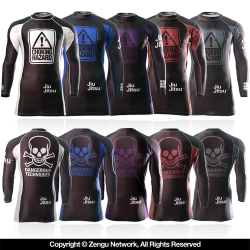 "93brand x Meerkatsu ""Choking Hazard"" Ranked BJJ Rash Guards"