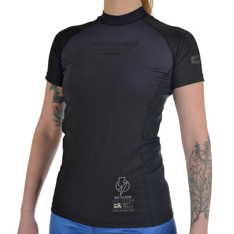 "93brand ""No Flash"" Women's Grappling Rash  Guard"